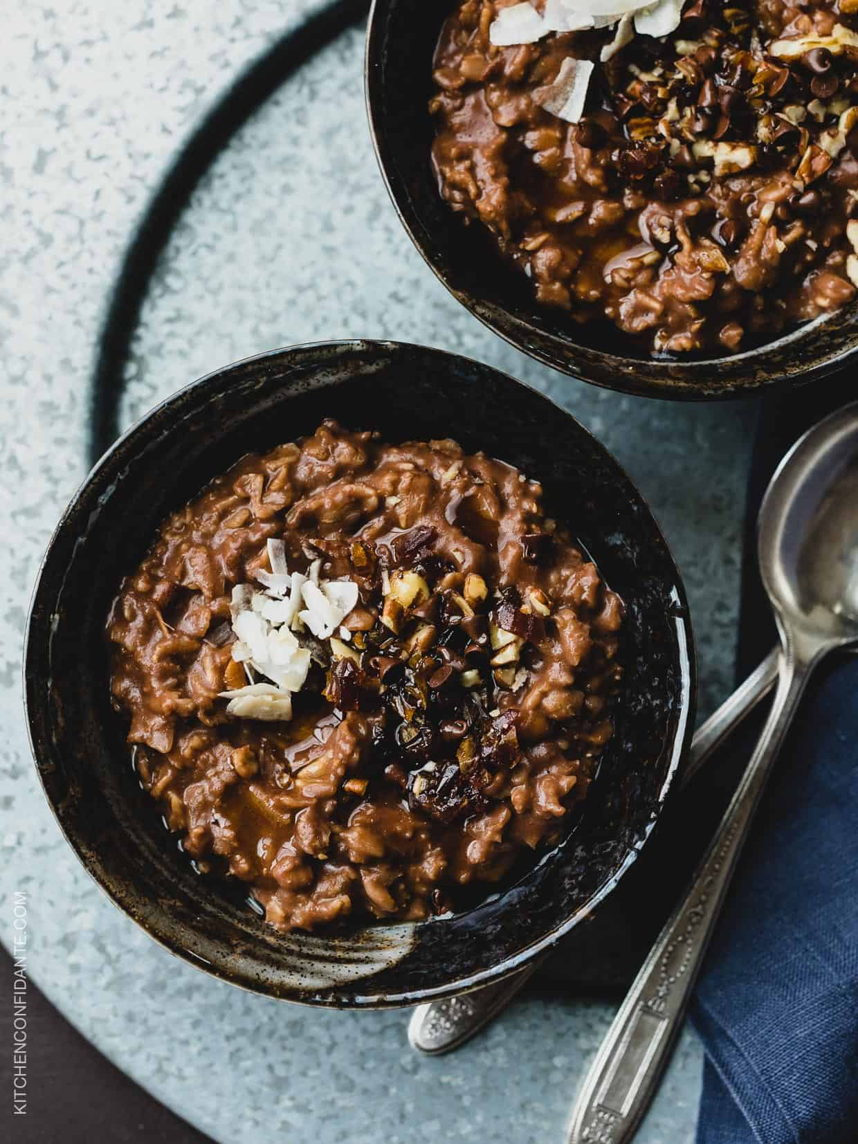This indulgent Chocolate Coconut Oat Porridge is better for you than you think! Try this recipe for a wholesome start to your day.