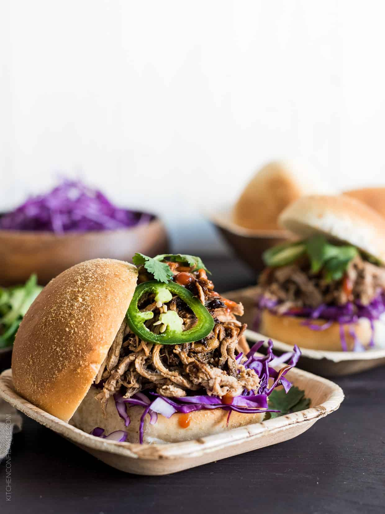 Filipino Adobo-style Pulled Pork Sandwiches are simple and delicious, thanks to the slow cooker!