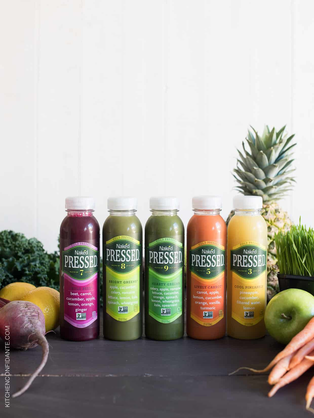 Naked Cold Pressed Juices have no added sugar, no preservatives and are non-GMO verified.