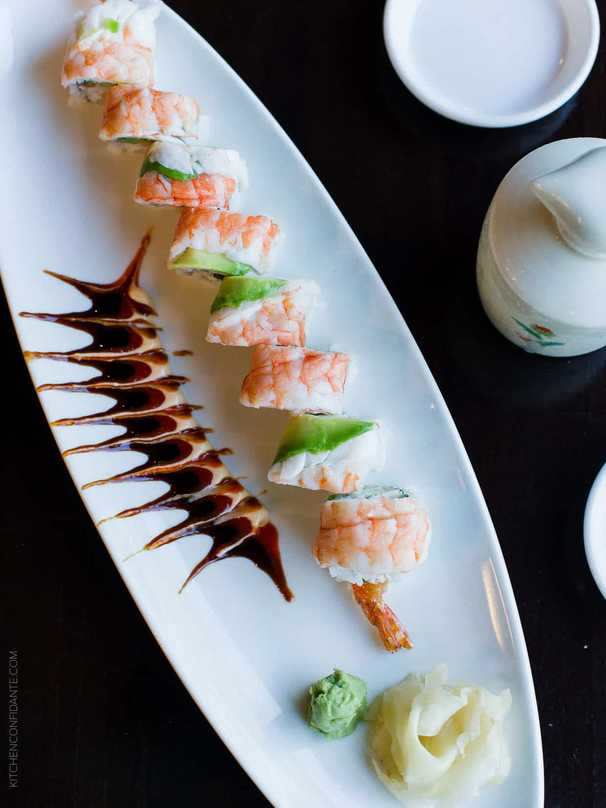 Shrimp Lovers Roll - find out what sake pairs well with this classic.