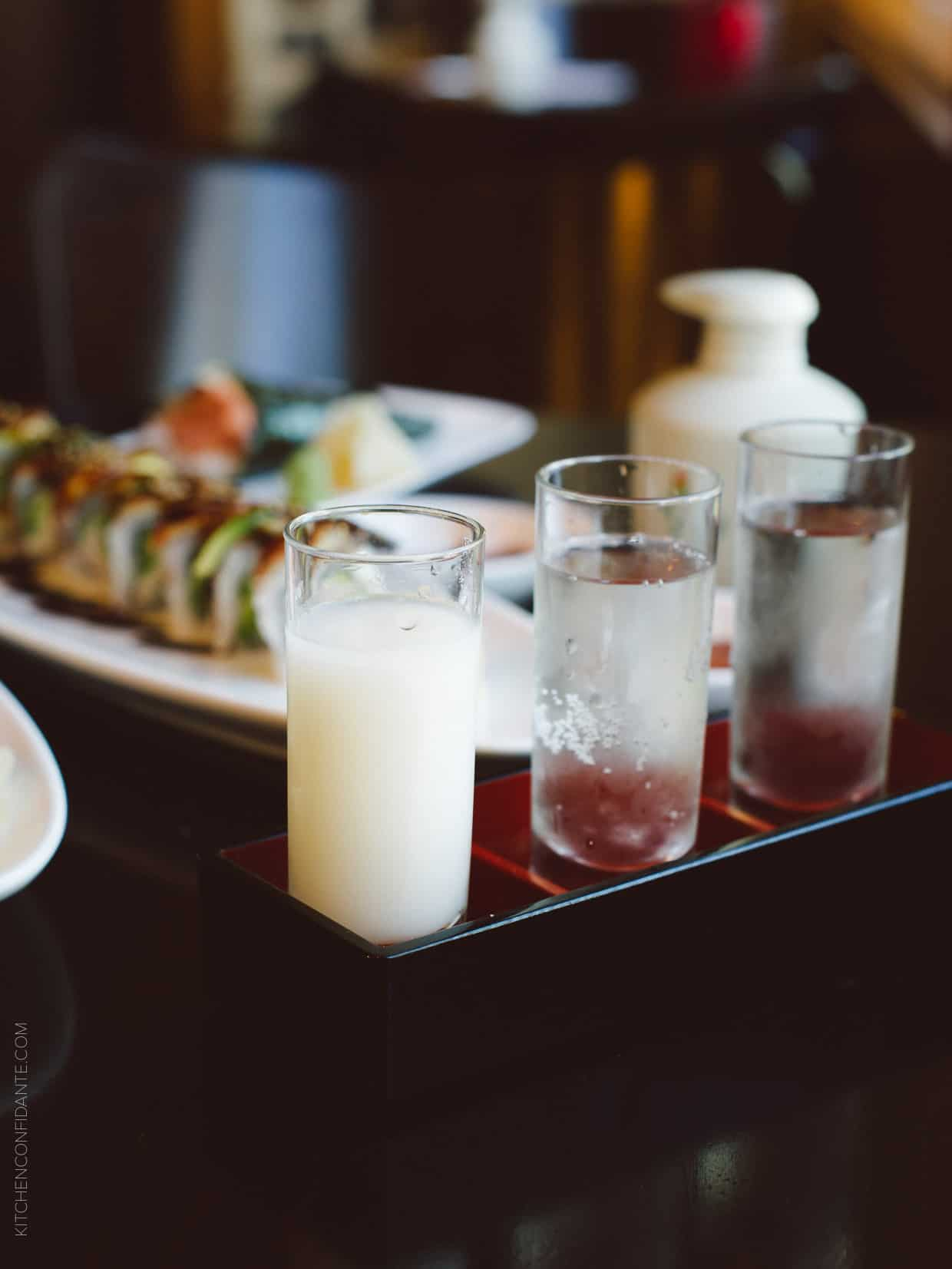 What goes best with sushi? The perfect sake, of course! Check out three delicious pairings at @benihanaus #senseacrave #ad
