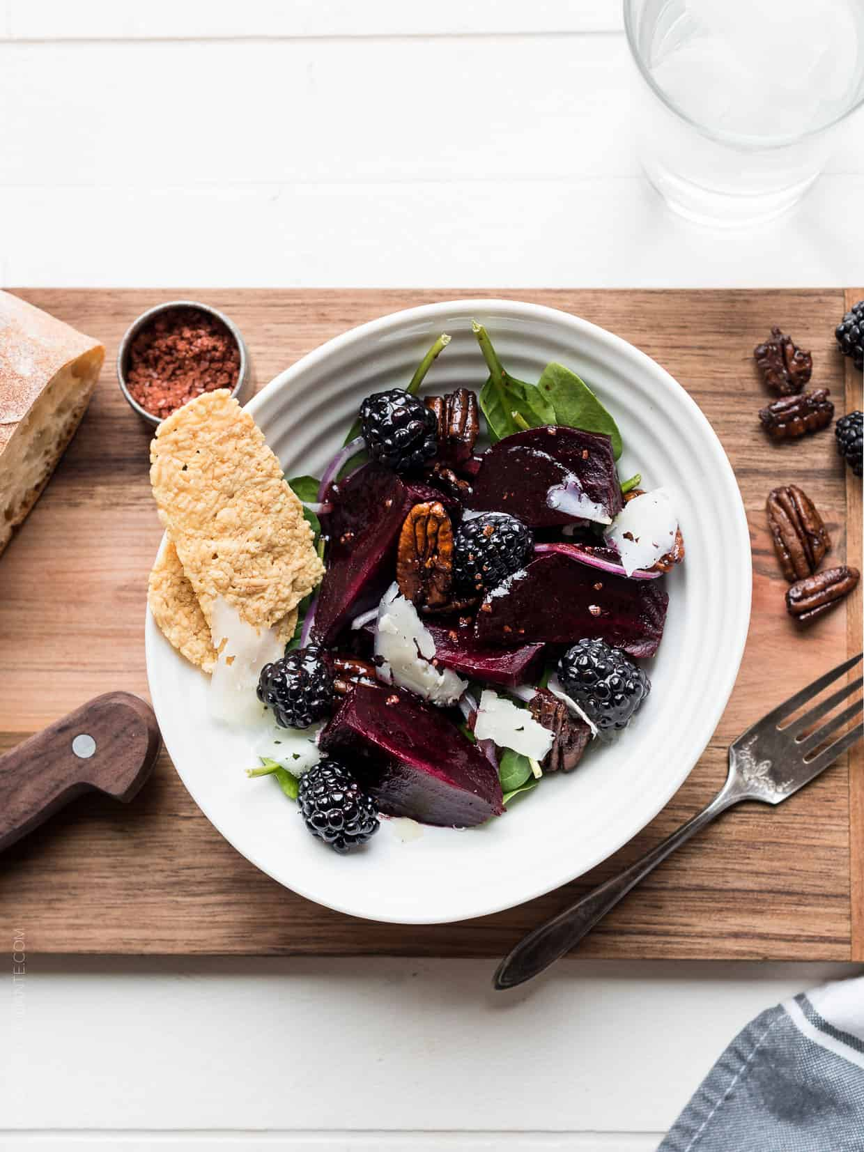 Blackberry Beet Salad with Blackberry Balsamic Dressing ...
