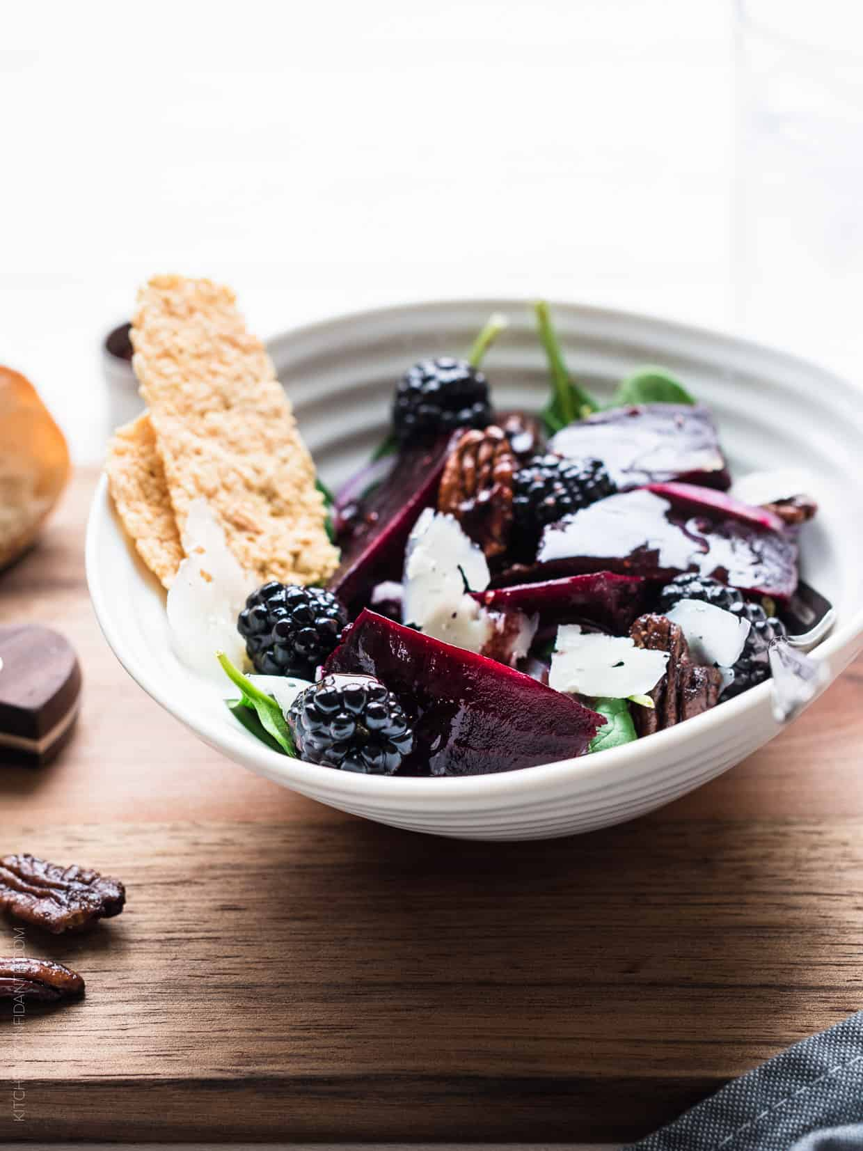 this colorful Blackberry Beet Salad with Blackberry Balsamic Dressing ...