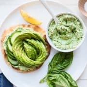 Green Goddess Avocado Toast - this may just be the ultimate avocado toast, ever.