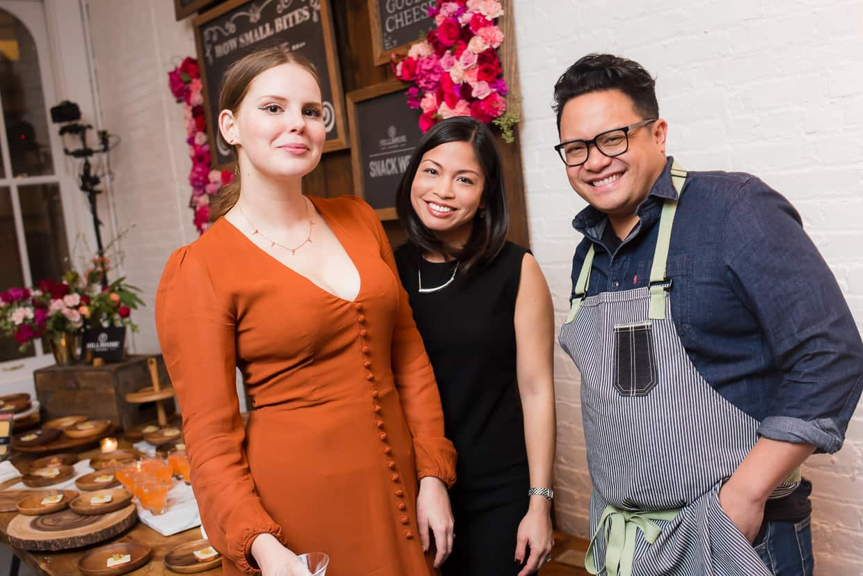 Claire Thomas, Liren Baker and Dale Talde at the Hillshire Snacking Launch Party.
