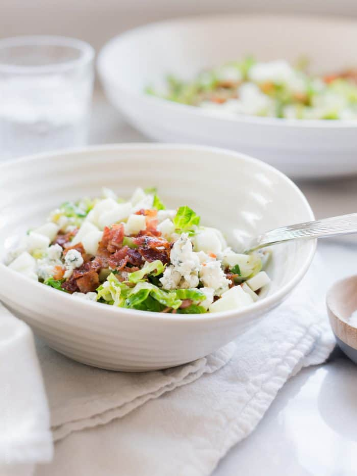 Shredded Brussels Sprouts Salad with Bacon, Apple and ...