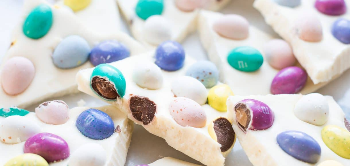 White Chocolate Easter Bark - the quickest treat you can make this Easter!