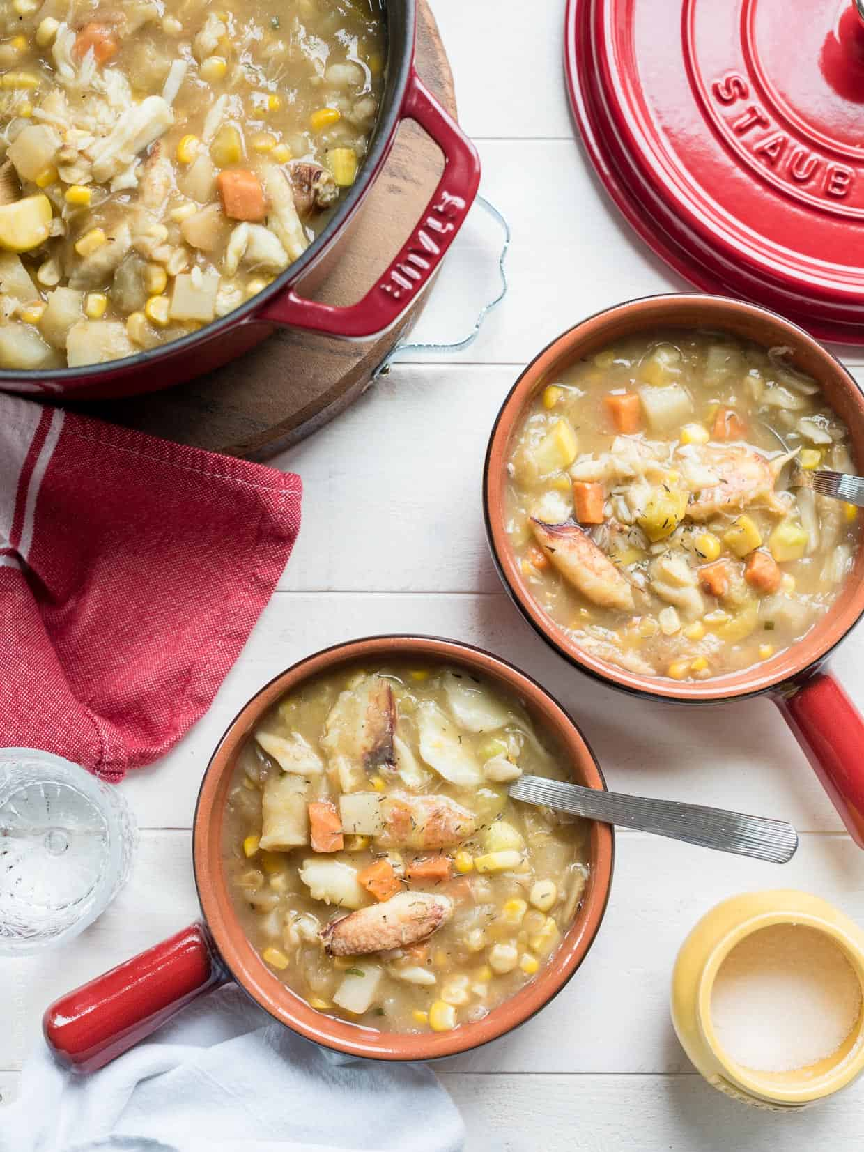 Hearty and wholesome: Crab and Corn Chowder (Dairy Free)