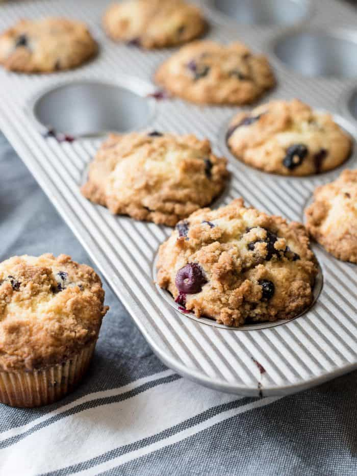 Bakery Style Buttermilk Blueberry Muffins - Save yourself a trip to ...