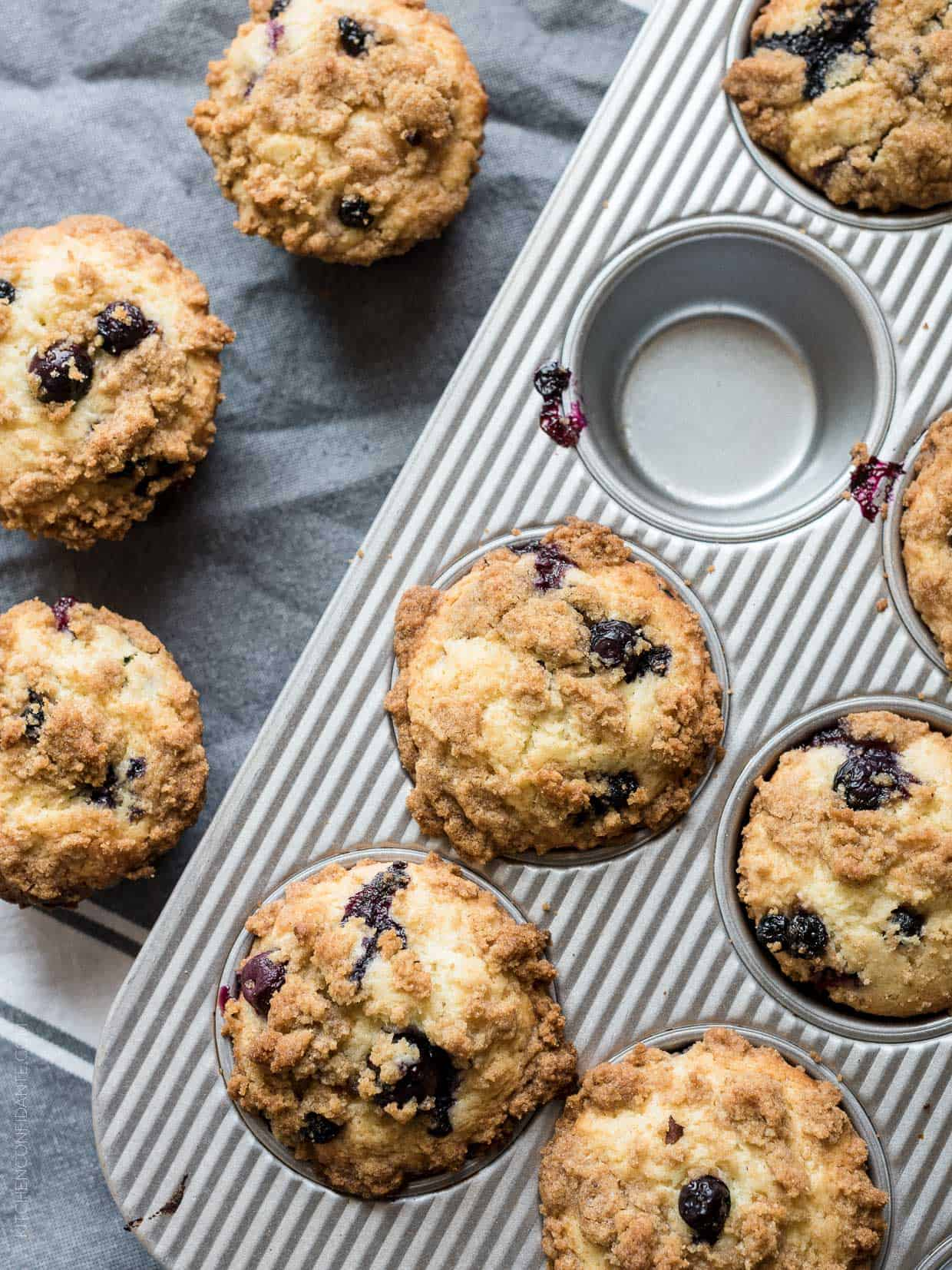 Bakery Style Buttermilk Blueberry Muffins - bake a batch of muffins that will rival the ones that tempt you at the coffee shop!