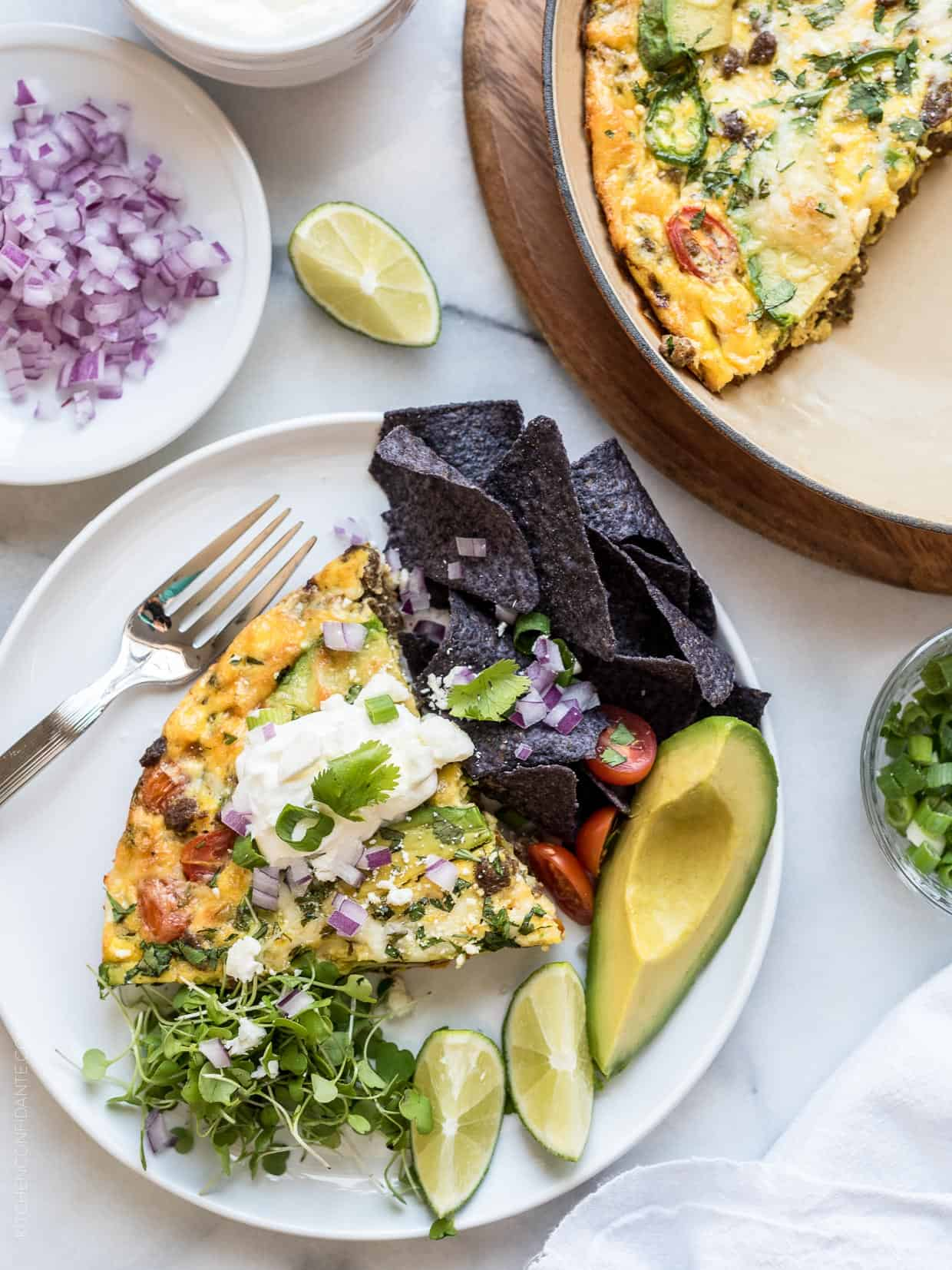 Taco night is always a hit but now you can have tacos for breakfast, lunch AND dinner with this amazing Taco Frittata!