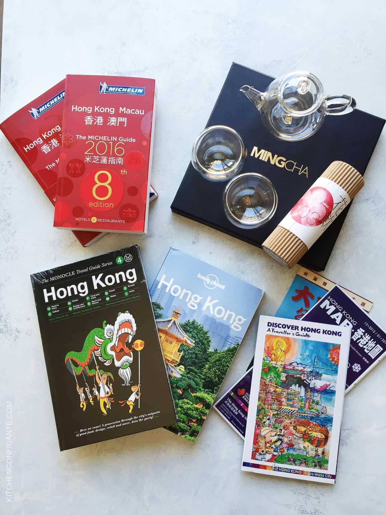 Hong Kong Guidebooks - getting ready to travel.