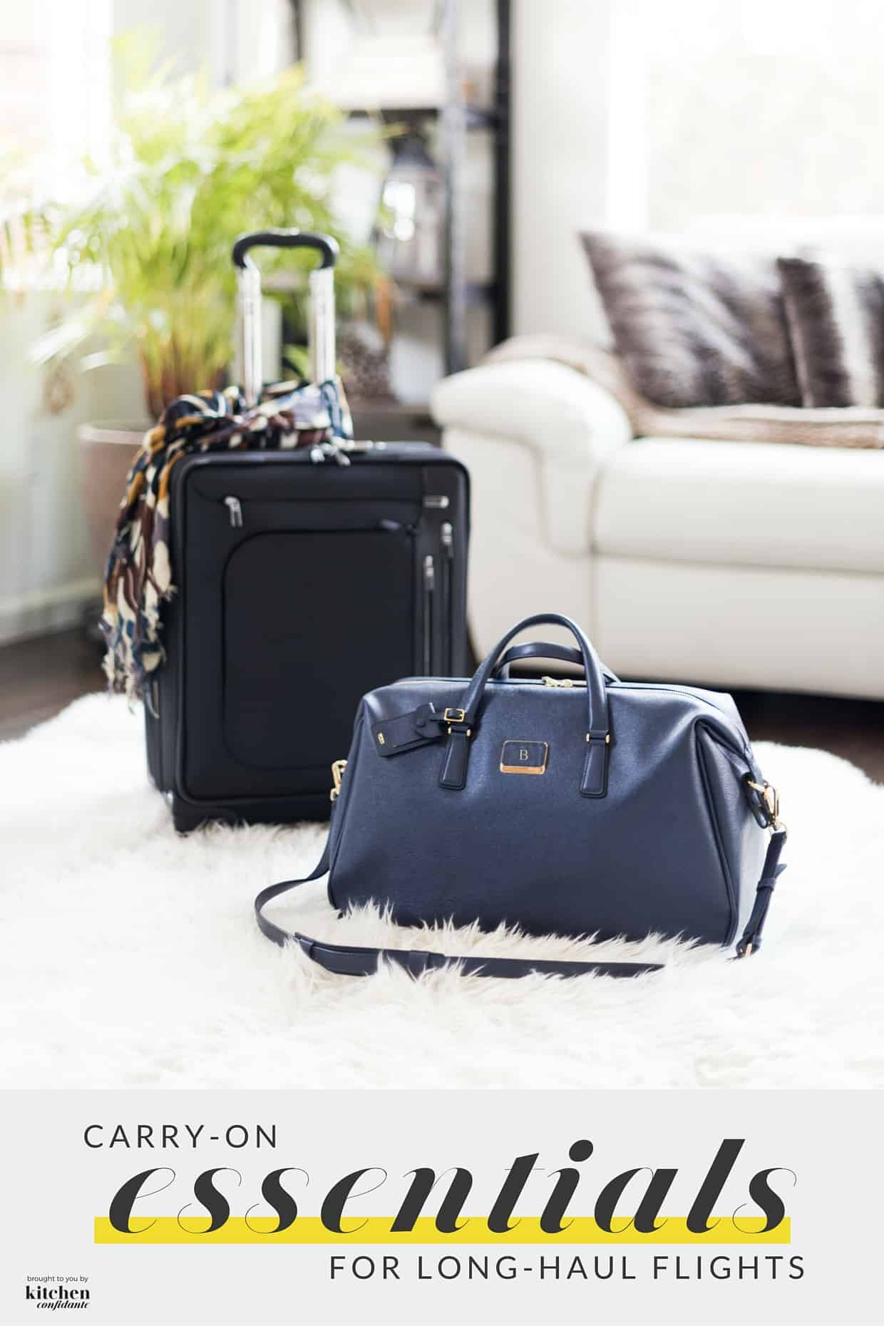 Carry-On Essentials for Long-Haul Flights - don't leave home without packing these must-have items - they will make your long-haul flight so much more enjoyable so you can arrive fresh and relaxed at your destination!