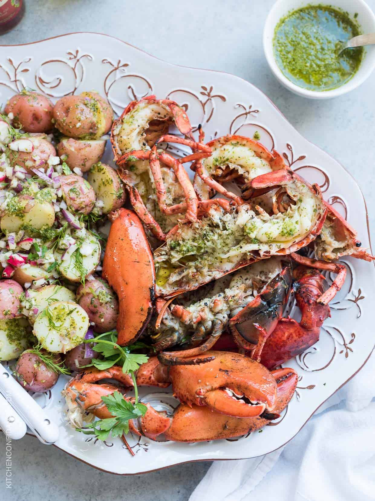 ... Chimichurri Lobster and Chimichurri Potato Salad | Kitchen Confidante