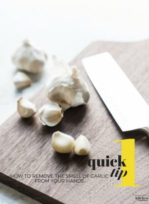 How to Remove the Smell of Garlic From Your Hands-One Quick Tip to using stainless steel to wash away the odor!