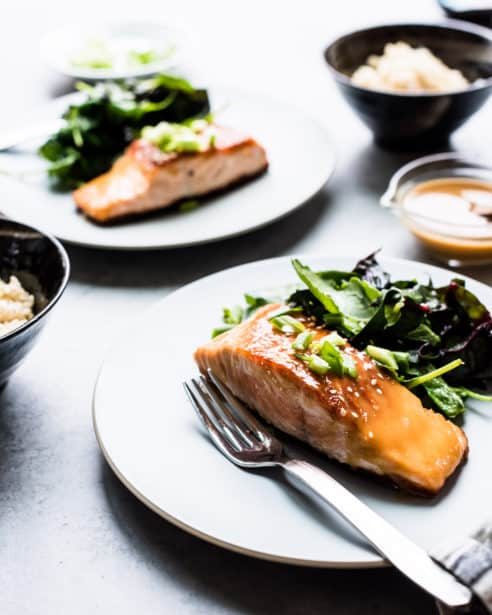 Miso Maple Glazed Salmon brings a taste of sweet and savory to the table in 15 minutes or less.