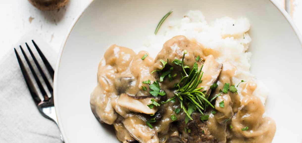 Swiss Veal and Wild Mushroom Stew is a must try from Deer Valley Resort's Fireside Dining. This rich, hearty stew recipe is simple to make at home, and so comforting on a winter's night.