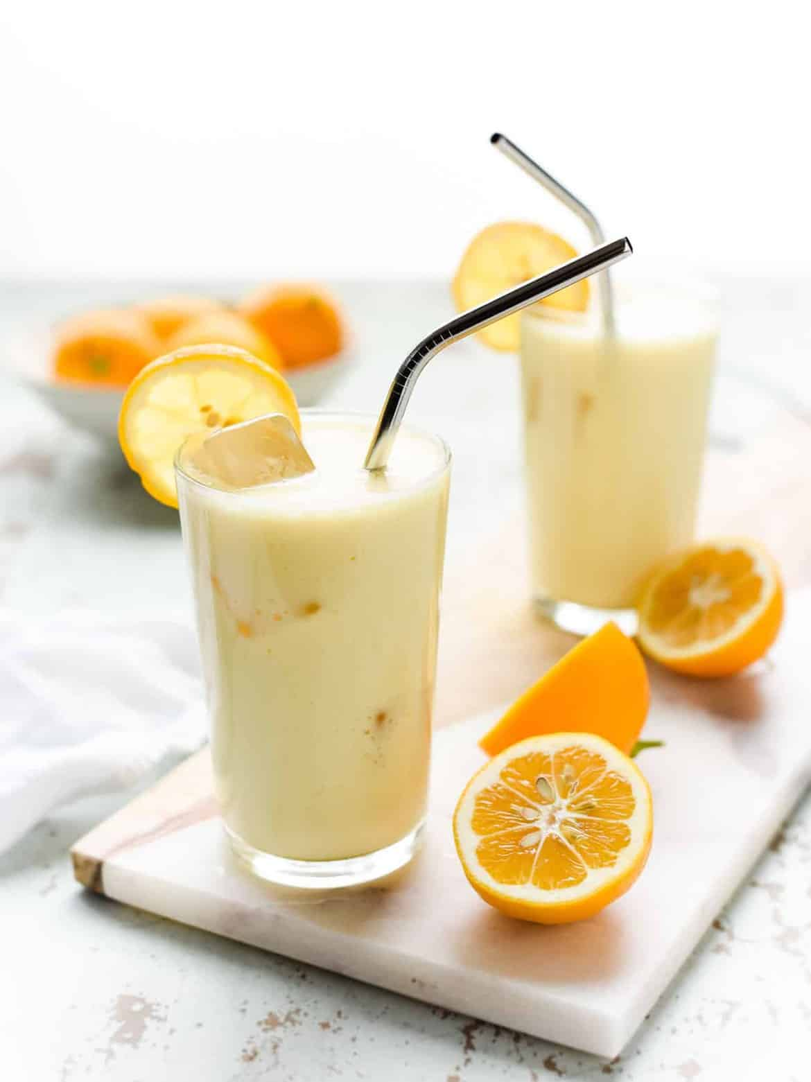 Meyer Lemon and Honey Lassi
