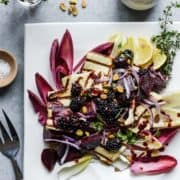Fire up the grill for Halloumi Salad with Beets and Blackberries. It's savory, fresh, drizzled with balsamic blackberry dressing and a cheese lover's dream.