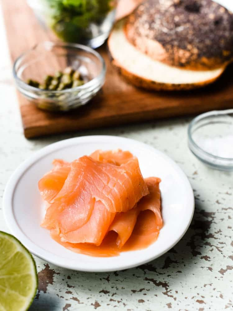 If you've never tried Scottish smoked salmon, you'll love its flavor in a Scottish Smoked Salmon Bagel with Scrambled Eggs.