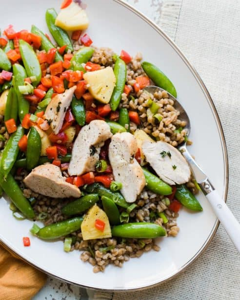 Craving a taste of the Caribbean? Savor the flavors of the Cayman Islands with delicious meal kits from Chef'd inspired by the Cayman Islands Department of Tourism. This Pina Colada Chicken with Coconut Barley Risotto and Sugar Snap Peas is just one of the many delicious island tastes!