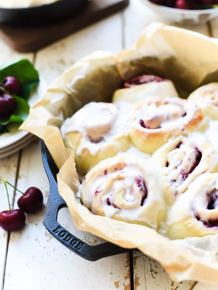 Even if you don't wake up early, you can still make these sweet Cherry Rolls in 90 minutes!