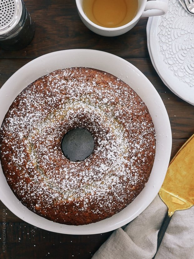 Banana Pineapple Cake | www.kitchenconfidante.com | Use ripe bananas in this simple, homey cake.
