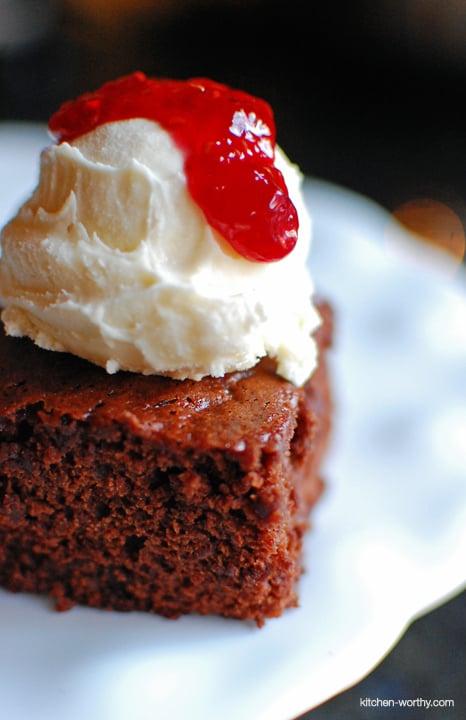 Chocolate Raspberry Brownies {aka Foghorn Brownies}