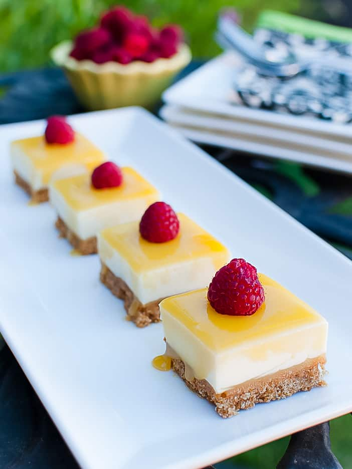 No-Bake Lemon Curd Cheesecake Bars