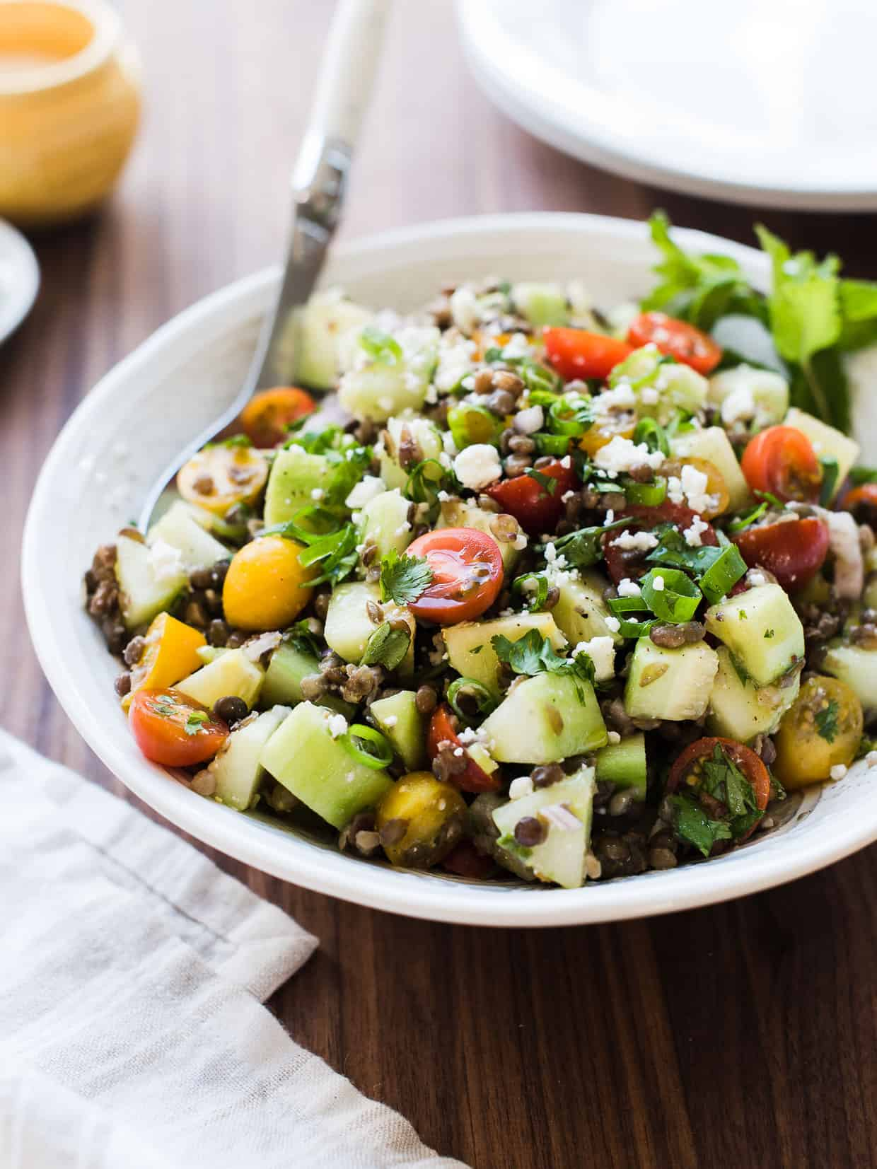 This Summer Lentil Salad is so versatile -- it pairs so well with anything off the grill, but is also a wholesome lunch, all on its own.