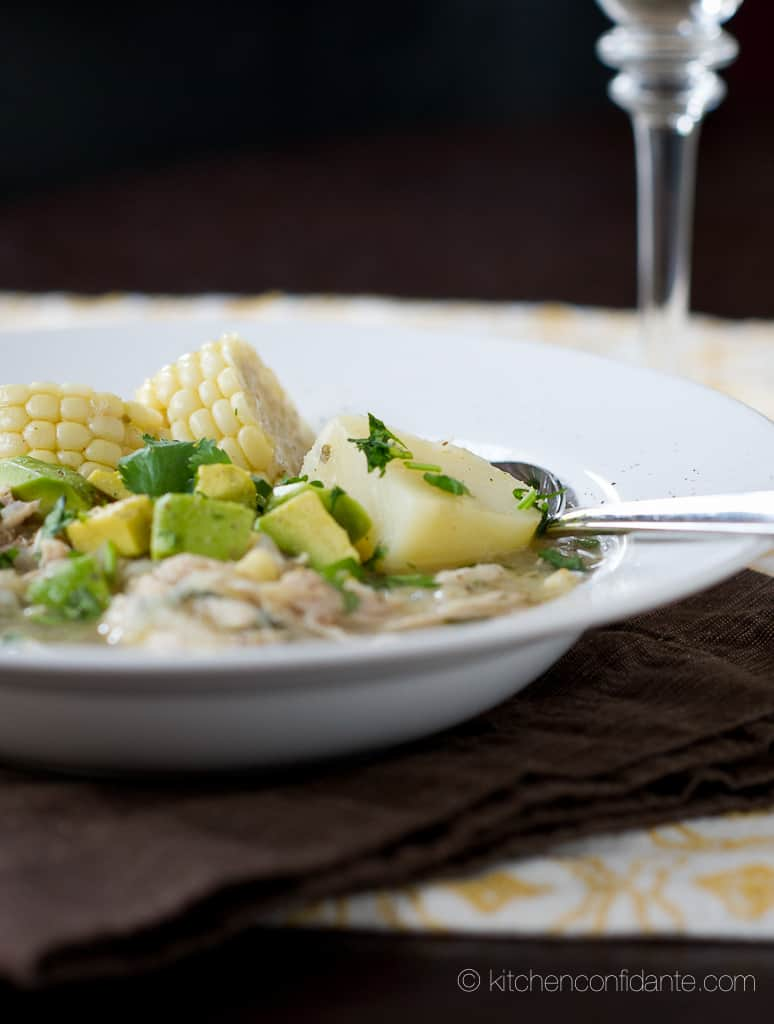 Colombian Chicken, Corn & Potato Stew {Ajiaco}