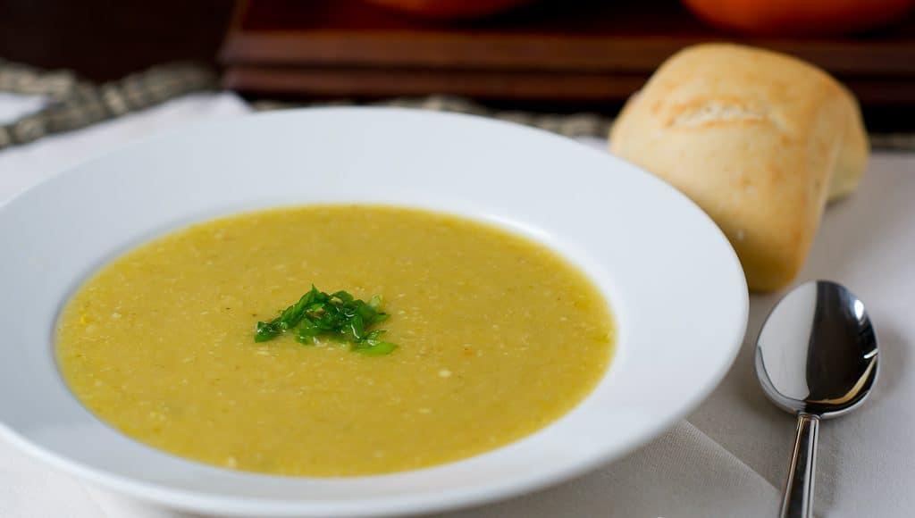 Roasted Corn Pudding In Acorn Squash Recipe — Dishmaps