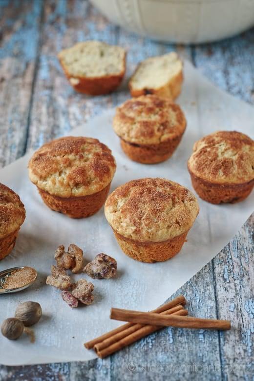 Banana & Candied Walnut Muffins