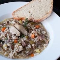 Beef, Shiitake Mushroom and Barley Soup