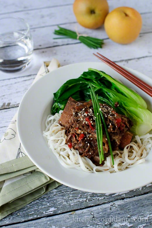 Korean-style Short Ribs with Noodles