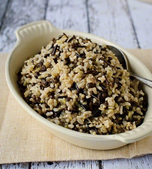 Wild Brown Rice With Black Beluga Lentils Kitchen Confidante