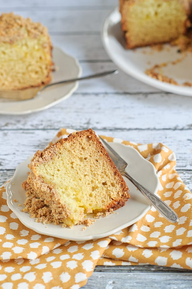 Meyer Lemon Coffee Cake with Almond Streusel