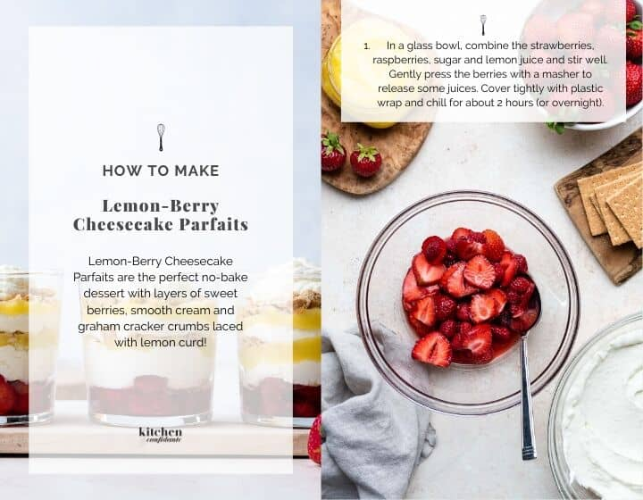 Step by step instructions for how to make Cheesecake Parfaits.