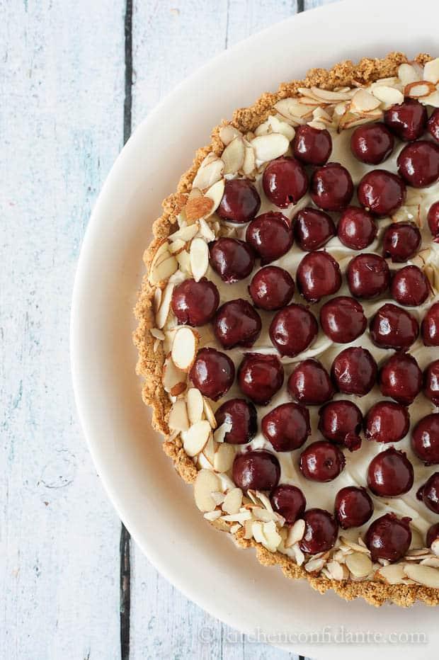 Morello Cherry Almond Tart