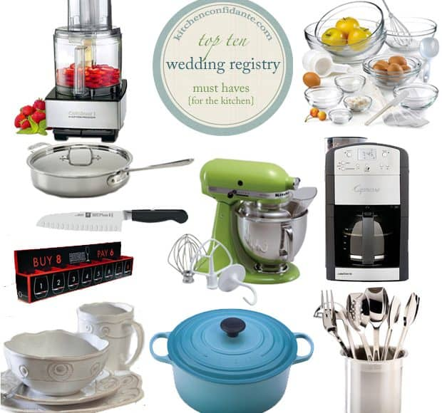 the wedding registry top 10 kitchen must haves kitchen confidante
