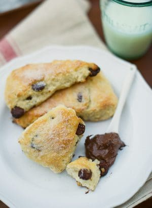 Chocolate Chip Scones with Buttermilk | Kitchen Confidante