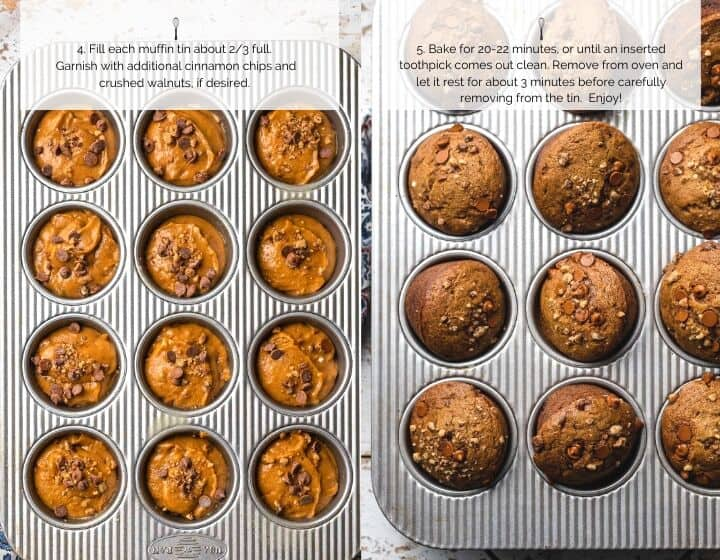 Pumpkin Cinnamon Chip & Walnut Muffins | Kitchen Confidante