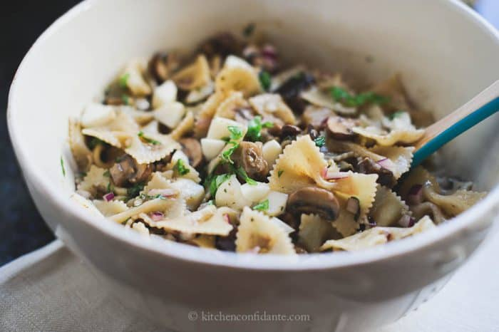 Warm Eggplant & Mushroom Pasta Salad | Kitchen Confidante