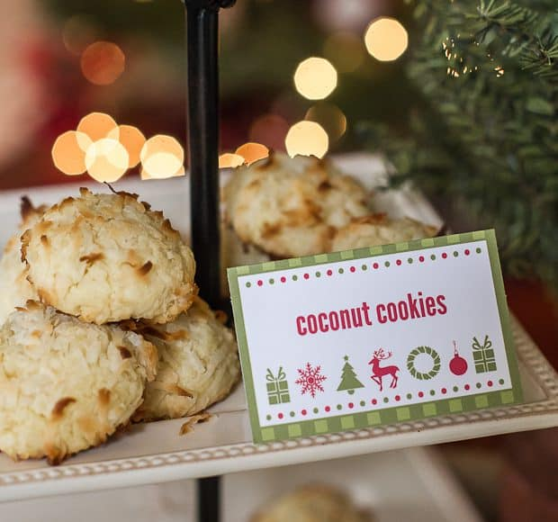 oconut Cookies - HP Holiday Printables | Kitchen Confidante