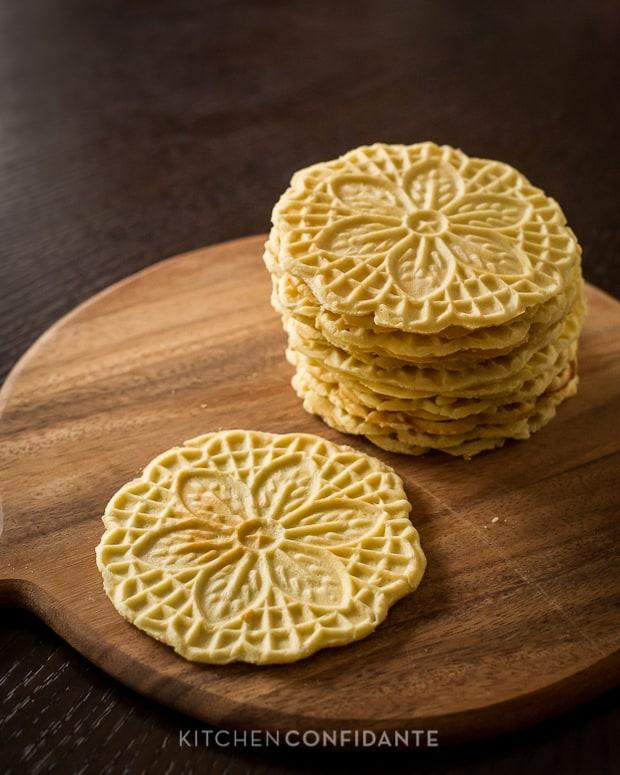 Authentic Pizzelle | Kitchen Confidante | Italian Waffle Cookie Recipe