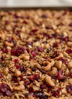 Trail Mix Granola | Kitchen Confidante | Granola with Cashews, Almonds and Cranberries