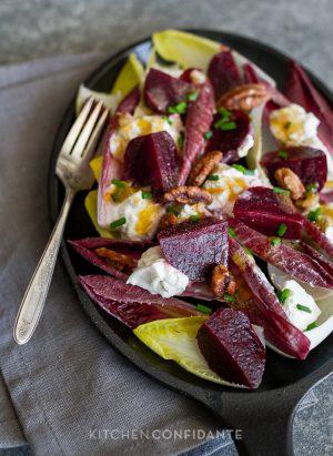 Beet and Burrata Endive Salad | Kitchen Confidante