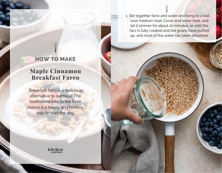 How to make breakfast farro.