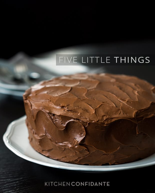 Five Little Things| Kitchen Confidante | Ina's Chocolate Cake