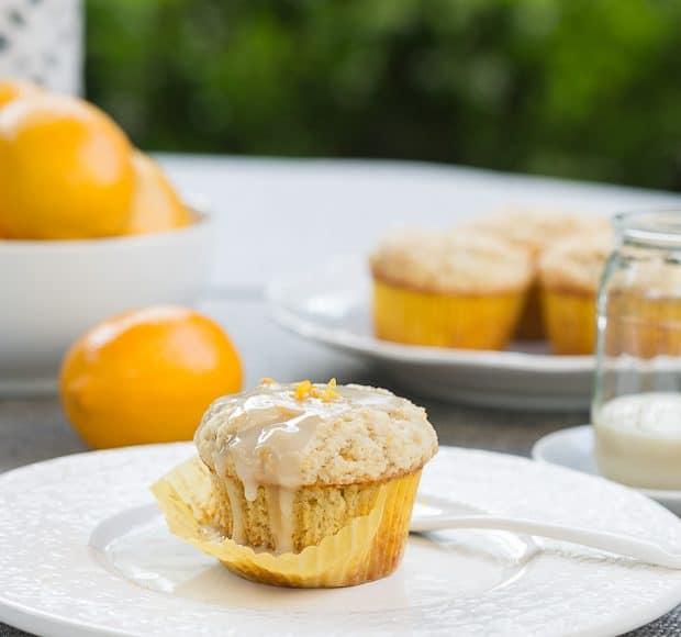 Meyer Lemon Ricotta Muffins | Kitchen Confidante | Glazed